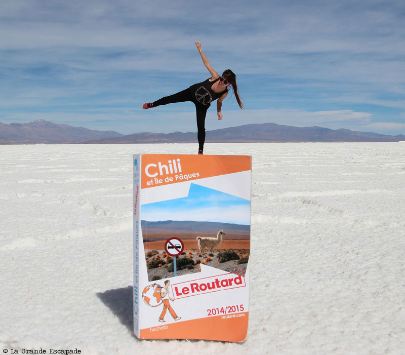 Justine au Salar de Uyuni, Bolivie