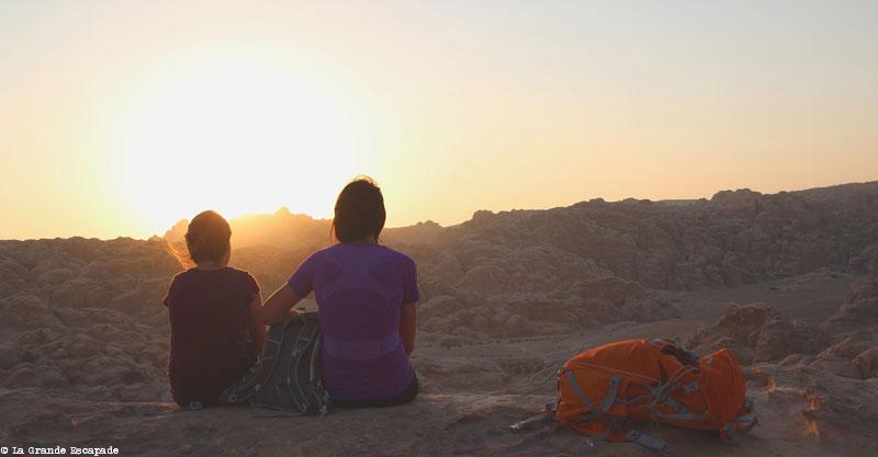 Justine et Barbara sur le site de Little Petra en Jordanie