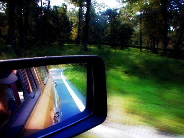 Route dans le rétroviseur, Etats-Unis
