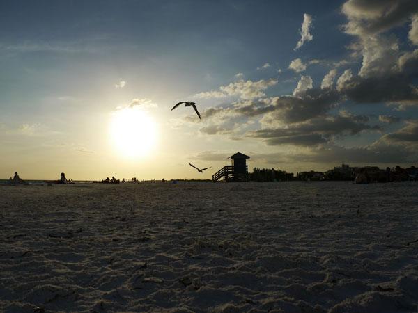 Plage de Sarasota en Floride (Etats-Unis)