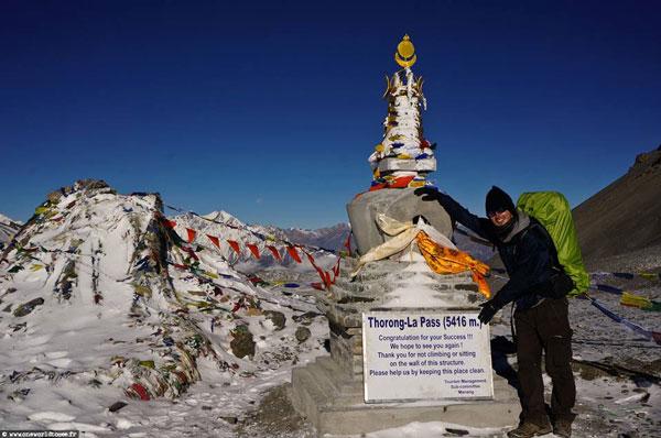 Anthony lors de son trek des Annapurnas (Népal)