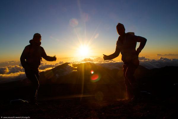 Lever de soleil sur le Haleakala National Park à Maui (Hawaii, USA)