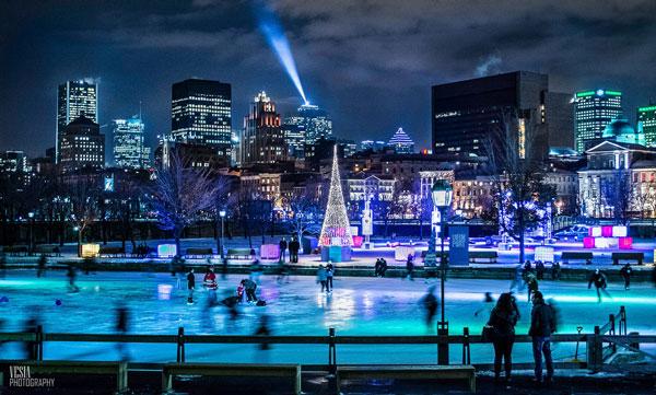 Patinoire à Montréal (Canada)