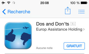 Application mobile pour voyager : Dos and Don'ts