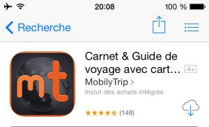 Application mobile pour voyager : MobilyTrip