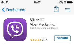 Application mobile pour voyager : Viber