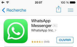 Application mobile pour voyager : WhatsApp Messenger