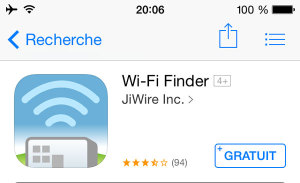 Application mobile pour voyager : Wi-Fi Finder
