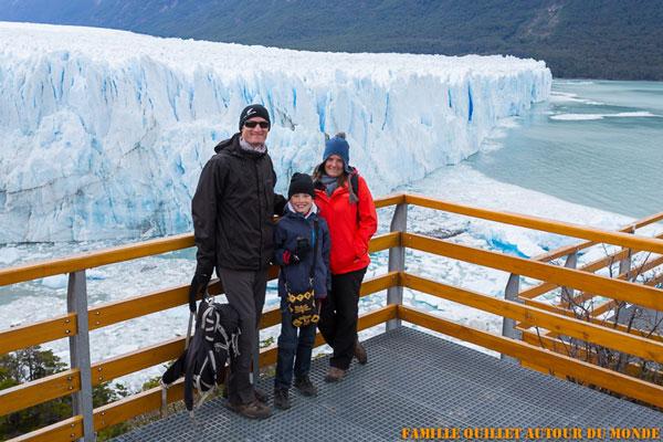Les Quillet au Perito Moreno, El Calafate (Argentine)