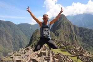 Didier au Machu Picchu (Pérou)