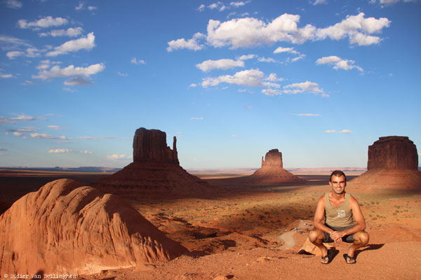 Didier à Monument Valley, Arizona (USA)