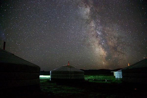 Voix lactée, la nuit, Mongolie
