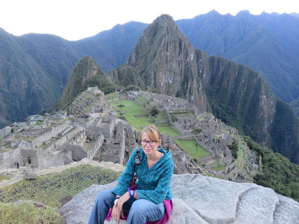 Anaïs au Machu Picchu, Pérou