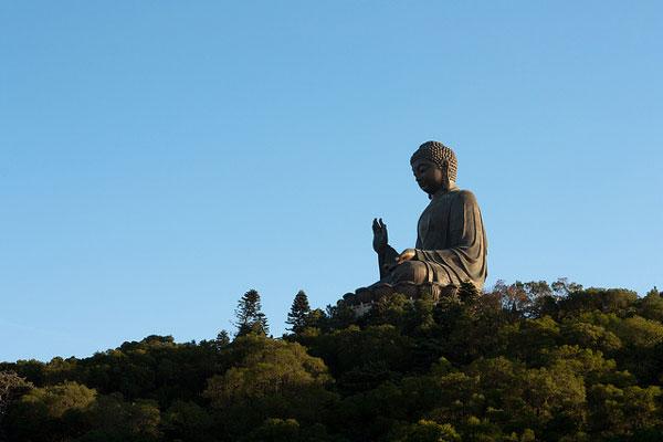 Big Buddha sur Lantau Island, Hong Kong