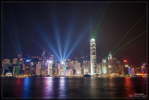 La Symphonie des Lumières, vue depuis Kowloon, Hong Kong