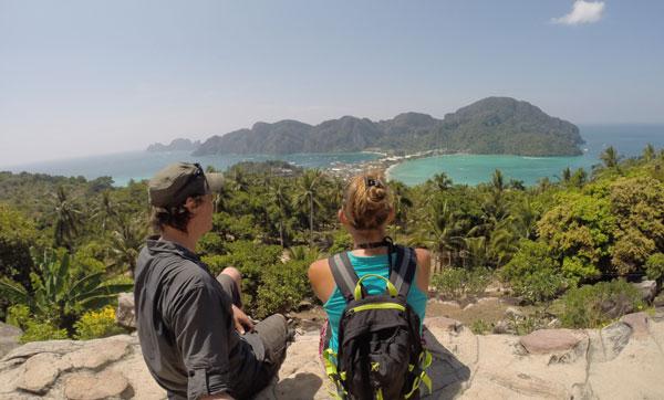 Marjorie & Bastien du blog chronomundi.fr à Koh Phi Phi, Thaïlande