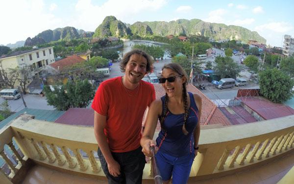 Marjorie & Bastien du blog chronomundi.fr à Tam Coc, Baie d'Halong terrestre, Vietnam