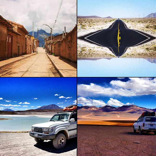 @3wanderlusters et leur chemin péruvien, #yourescapes sur les routes de l'ouest américain, @novomonde en Bolivie