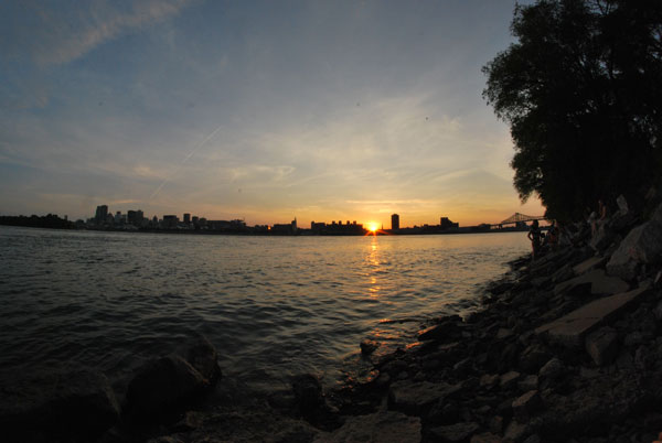 L'Île de Montréal, vue du Parc Jean-Drapeau
