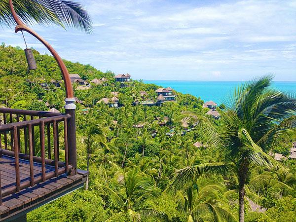 Quelle île choisir en Thaïlande : vue depuis un hôtel de luxe à Koh Samui