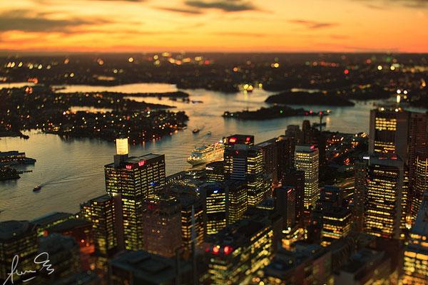 3 jours à Sydney : Vue sur Sydney au coucher du soleil depuis le Sydney Tower Eye