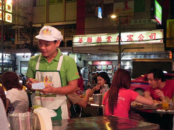 Restaurant de rue à Chinatown, Bangkok