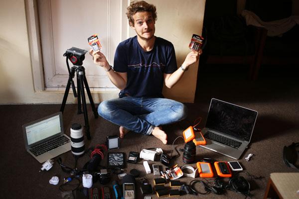 Antoine et son matériel vidéo