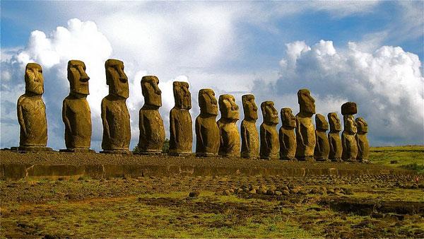 L'Île de Pâques, au large du Chili