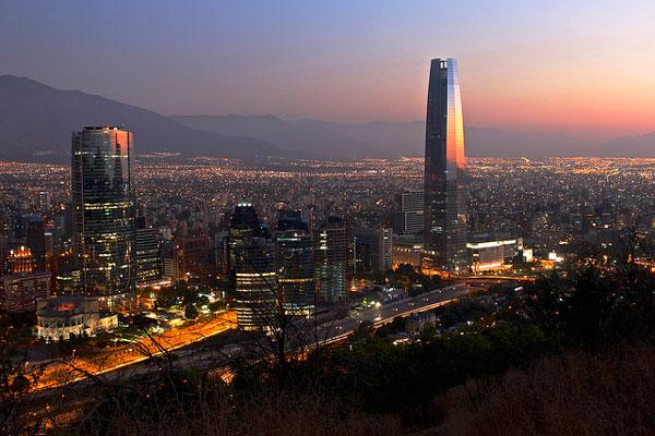 Santiago de Chile de nuit