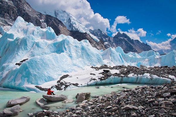 Les glaciers du trek du camp de base de l'Everest, au Népal
