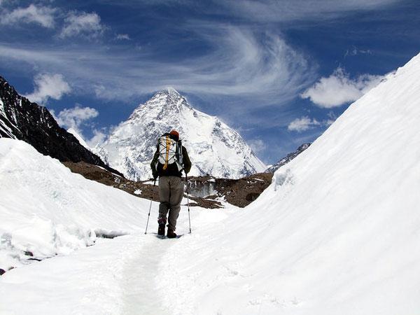 Trek sur le glacier Baltoro, face au K2, Pakistan