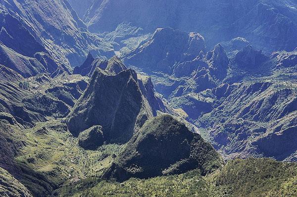 Le Cirque de Mafate, sur l'île de La Réunion