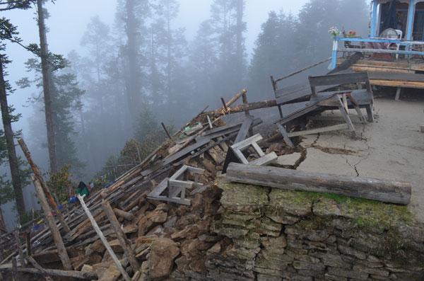 Chalang Pati au Népal, lors du séisme au Népal de 2015