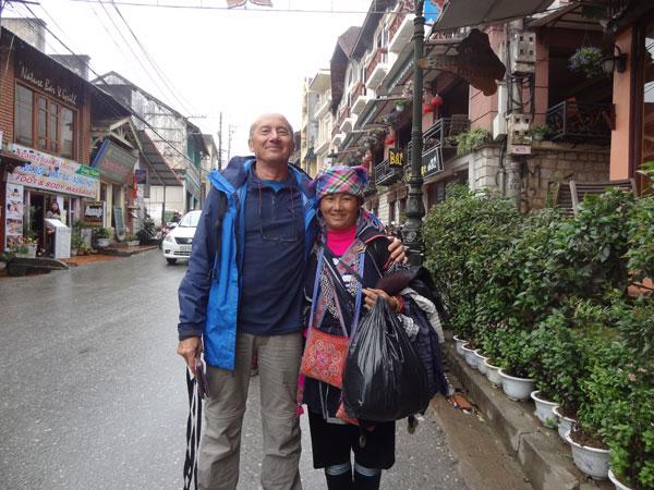 Patrick à Sapa, au Vietnam
