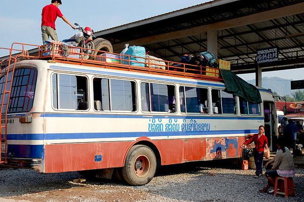 Voyage en bus au Laos