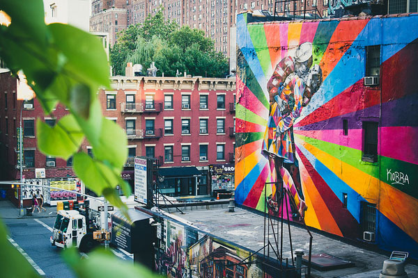 Vue depuis la High Line, New York