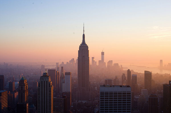 La vue depuis le Rockefeller Center, Top of the Rock, New York