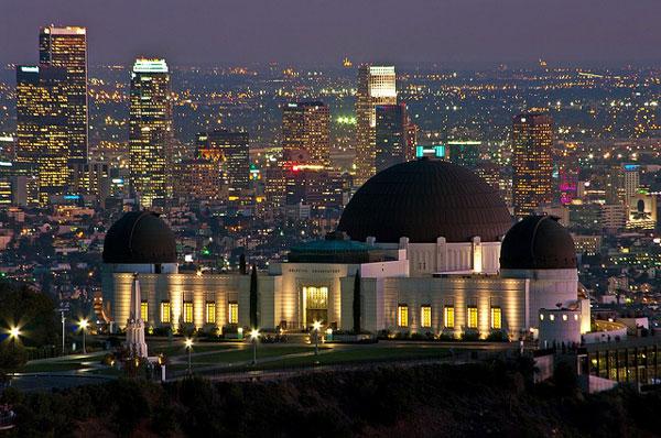 Vue sur Los Angeles et l'Observatoire depuis le Griffith Park