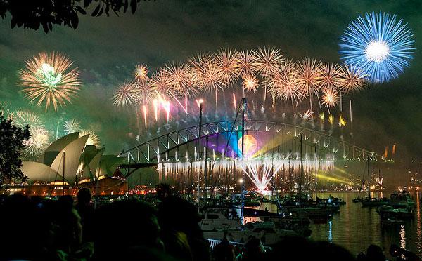 Feu d'artifice pour le nouvel an à Sydney