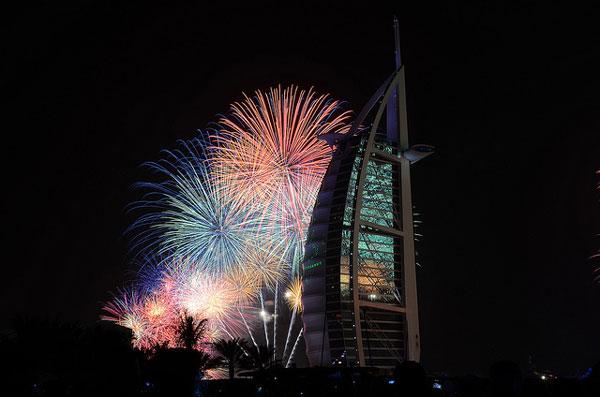 Feu d'artifice du 31 décembre à Dubai