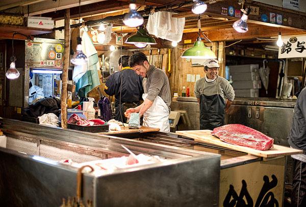 Le Marché aux poissons de Tsukiji, Tokyo