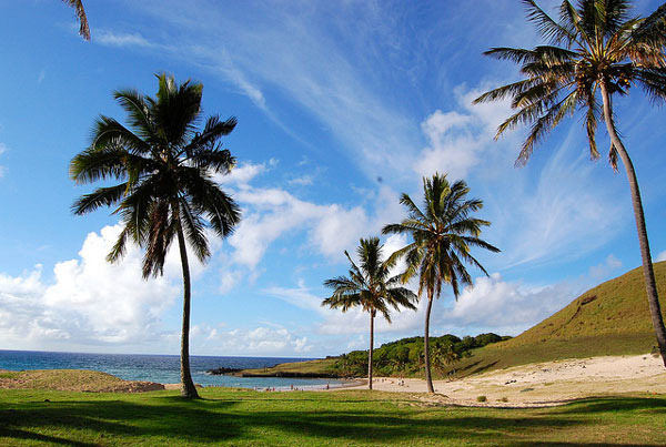 La belle plage d'Anakena