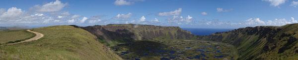 Le cratère du volcan Rano Kau