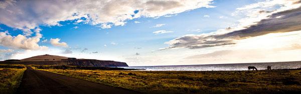 Panoramique sur l'Île de Pâques