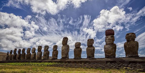 Le célèbre site de Tongariki