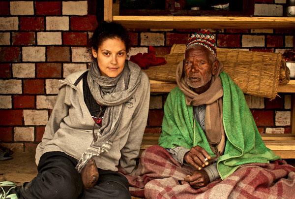 Ana dans le petit village de Bhadaure, près de Pokhara, au Népal