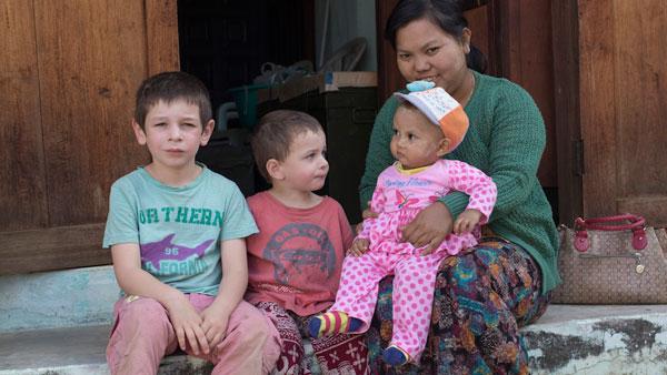 Esteban et Ruben en Birmanie