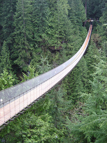 Le Capilano Suspension Bridge de Vancouver