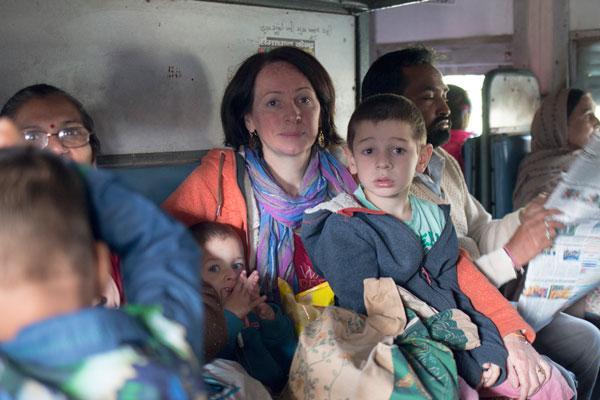 Dans un train en Inde