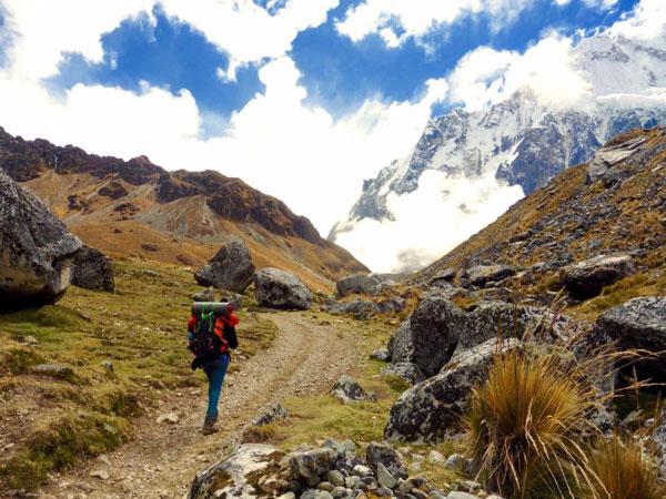 Amandine lors de leur trek au Pérou